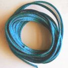 CORD, Satin - Rattail 12' 2mm TURQUOISE