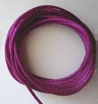 CORD, Satin - Rattail 12' 2mm VIOLET ROSE