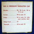 RADIATOR 4 pound Pressure Cap - Wayne WR-14 New Old Stock #1