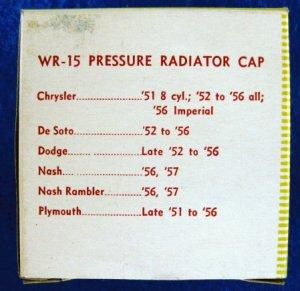 RADIATOR 7 pound Pressure Cap - Wayne WR-15 New Old Stock #2
