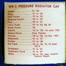 RADIATOR 4 pound Pressure Cap - Wayne WR-5 New Old Stock #2