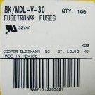 Bussmann Fusetron Time Delay Fuse MDL - V - 30  32v x 48 pcs