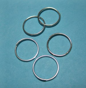 JUMP RINGS - Open 12mm Silver Tone Plate  100 Pieces   JR12sp