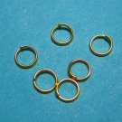 JUMP RINGS - Open 5mm Gold Tone Plate    50 Pieces  JR5gp