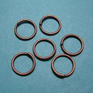 JUMP RINGS - Open 8mm Copper Tone    100 Pieces      JR8ct