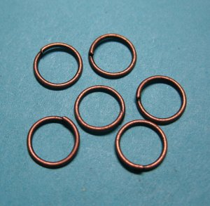 JUMP RINGS - Open 8mm Copper Tone    250 Pieces       JR8ct