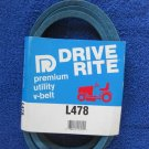 X-Tra Duty L478 Heat Resistant 1/2 x 78 Inch V Drive Belt