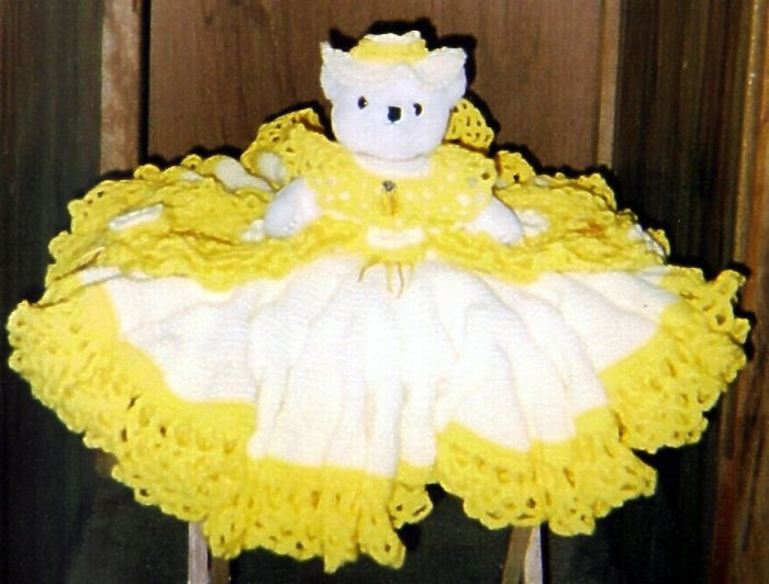 Bears with  hand croched dress