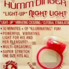 Humm Dinger - Night Light Vibrating Light Up Penis Ring Re-useable