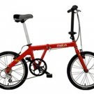 Melon Folding Bicycle Red or White - The Slice