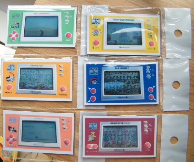 6 Magnet Nintendo Game Watch Collection