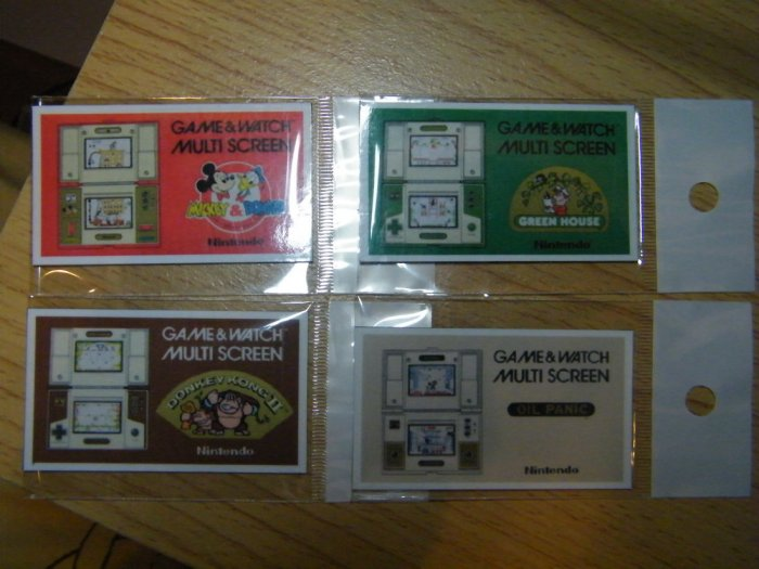 4 Magnet Nintendo Game Watch Multi Screen