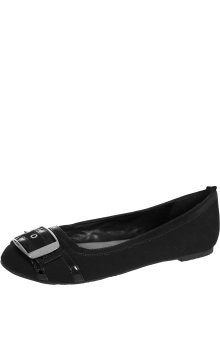 Charlotte Russe Canvas Buckle Flats (Size: 6)