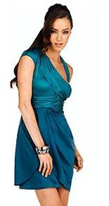 BCBGeneration Asymmetrical Wrap Dress (Size: 8)