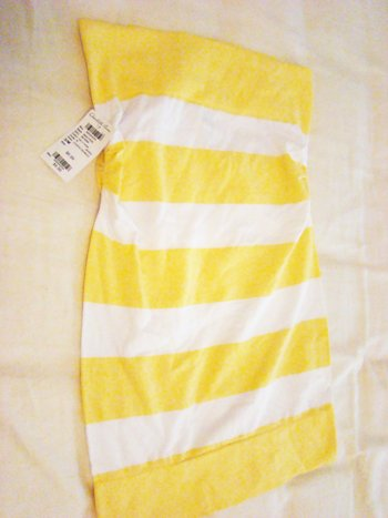 Charlotte Russe Striped Tube Top in Yellow (Size S/M)
