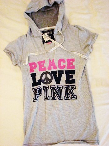 Victoria's Secret PINK Peace Love PINK Hoodie (Size S)