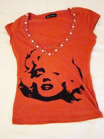 Marilyn Monroe Shirt (Size Freesize)