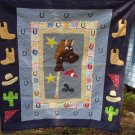 cowboy handcrafted quilt