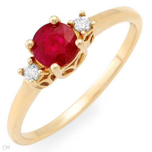 35%OFF - Ruby and Diamond 14K gold ring
