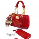 ED HARDY 100% Original Pam Mini Satchel - Red