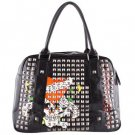 ED HARDY 100% Original Kate Satchel with Pyramid Stud - Black