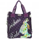 ED HARDY 100% Original Ellen Travel Tote - Plum
