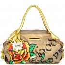ED HARDY 100% Original Tyla Large Tote - Gold