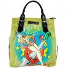 ED HARDY 100% Original Kelly North/South Microfiber Tote - Khaki