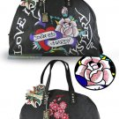 ED HARDY 100% Original Jane Weekend Bag - Black