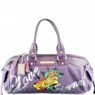 ED HARDY 100% Original Sandy Hip Satchel - Plum