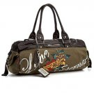 ED HARDY 100% Original Sandy Hip Satchel - Khaki
