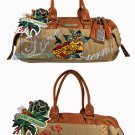 ED HARDY 100% Original Sandy Hip Satchel - Beige