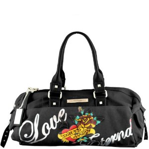 ED HARDY 100% Original Sandy Hip Satchel - Black