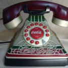 Coca Cola Stained Glass Look Phone, Retired, Tiffany