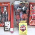 Coca Cola Pencil,Pen,Tin,Cards, Collectible Lot