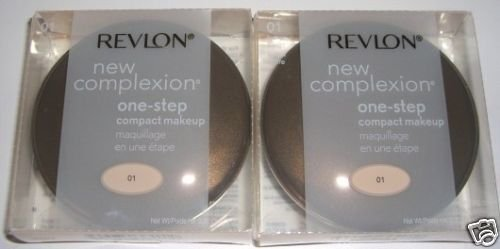 2 REVLON NEW COMPLEXION ONE STEP MAKEUP IVORY BEIGE 01