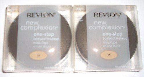 2 REVLON NEW COMPLEXION ONE STEP MAKEUP MEDIUM BEIGE 05