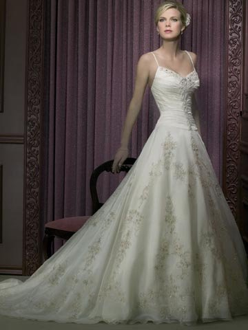 2010 White Wedding Dress Bridal Gown Size all Custome-made DS008