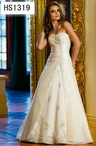 White/Ivory Wedding Dress Bridal Gown Custom Size/Top DS012
