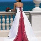 2010 White Wedding Dress Gown Size all Custome-made DS022