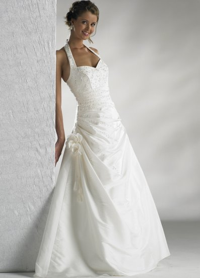 2010 White Wedding Dress Gown all Size DS023