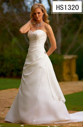 2010 White Wedding Dress Gown Size all Custome-made DS024