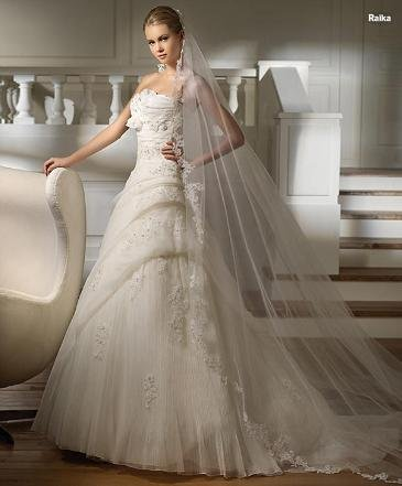 White/Ivory Wedding Dress Bridal Gown Custom Size/Top DS038
