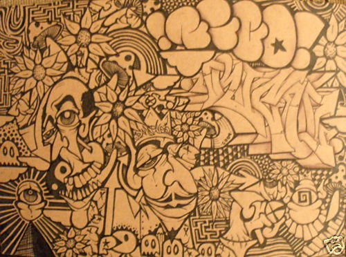 RICO abstract GRAFFITI ART outsider Urban pop street!