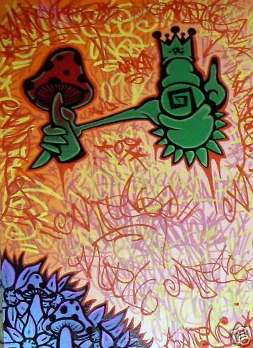 RICO 1 ORIG abstract GRAFFITI ART Urban pop street folk
