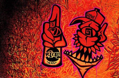 RICO abstract GRAFFITI ART pop street fairey warhol