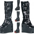 Transformer - Women's Knee High Boots with Interchangable Panels and 5 Buckles