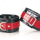 Black & Red Buckled Ankle Cuff
