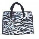 Zebras Peritoneal Non-Woven Show Tote Bag with Zipper