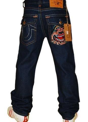 True religion mens smiley face denim jeans